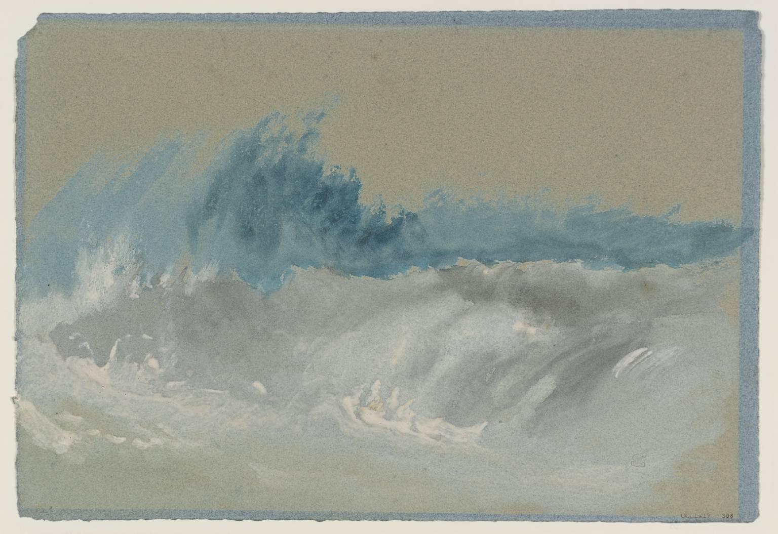 Breaking Wave on Beach after circa 1830 by Joseph Mallord William Turner 17751851  La boite verte