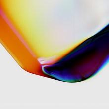 Le spectre abstrait de la couleur dans du verre