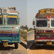Les décors fantastiques des camions en inde