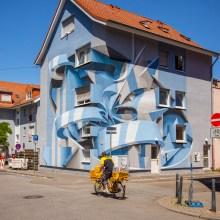 De saisissants reliefs en trompe l'oeil sur des bâtiments