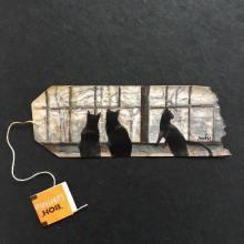 Des miniatures délicatement peintes sur des sachets de thé