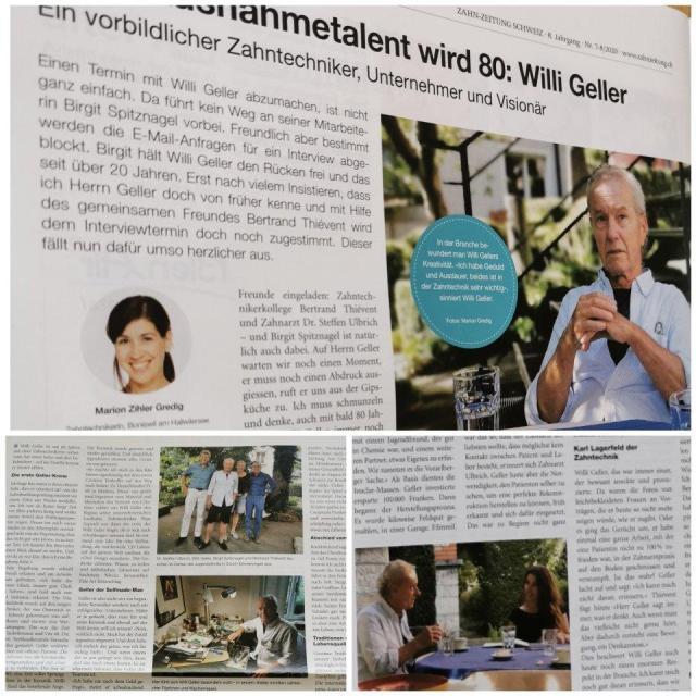 zahnzeitung schweiz mit interview willi geller august 2020