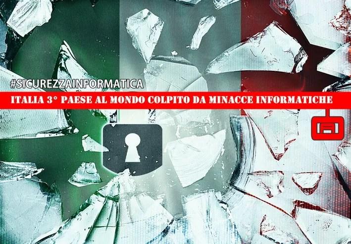 Italia Terzo paese al mondo colpito da minacce informatiche