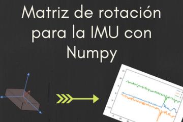 Portada Matriz de Rotacion para IMU