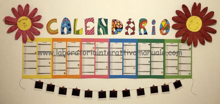 cartellone calendario scuola primaria