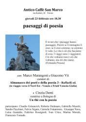paesaggi di poesia – Trieste 23 febbraio
