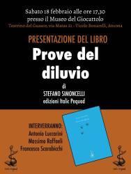 Prove del diluvio di Stefano Simoncelli ad Ancona – 18 febbraio
