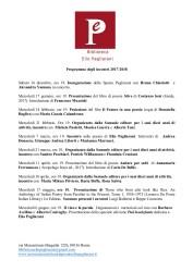 Calendario degli incontri della Biblioteca Elio Pagliarani di Roma