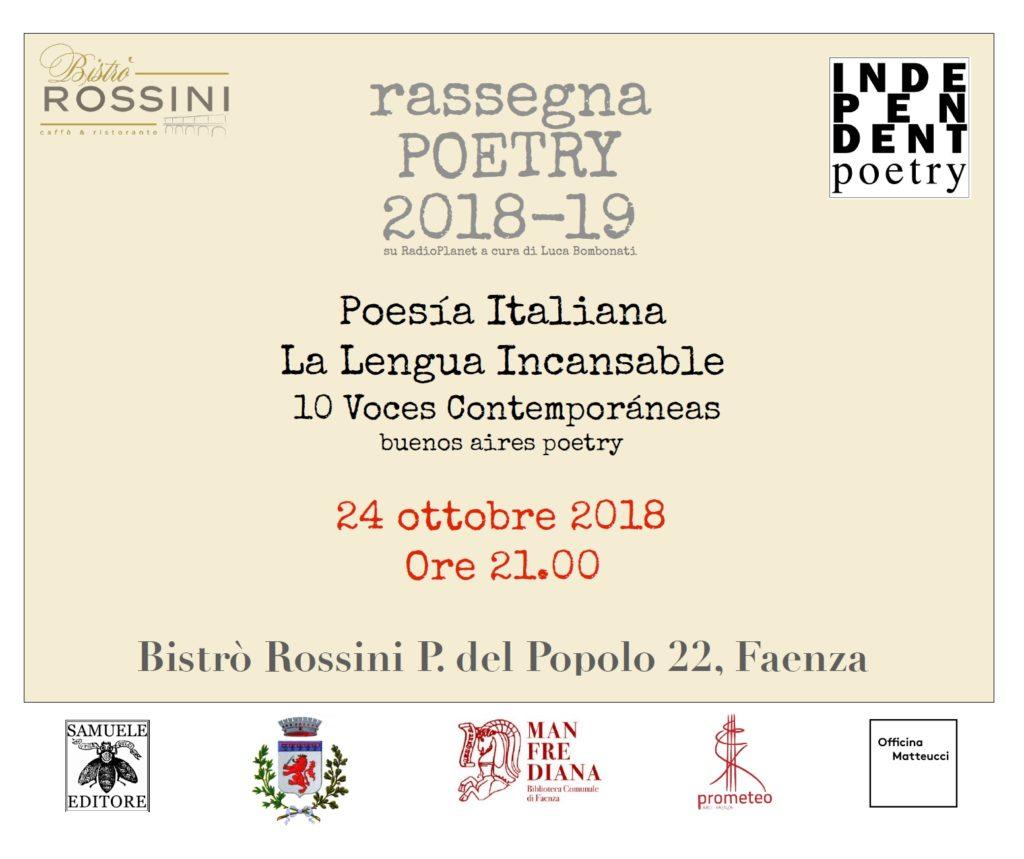 Poesía Italiana / La Lengua Incansable - 10 Voces Contemporáneas