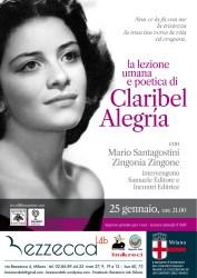 LA LEZIONE UMANA E POETICA DI CLARIBEL ALEGRÍA – 25 gennaio, Milano