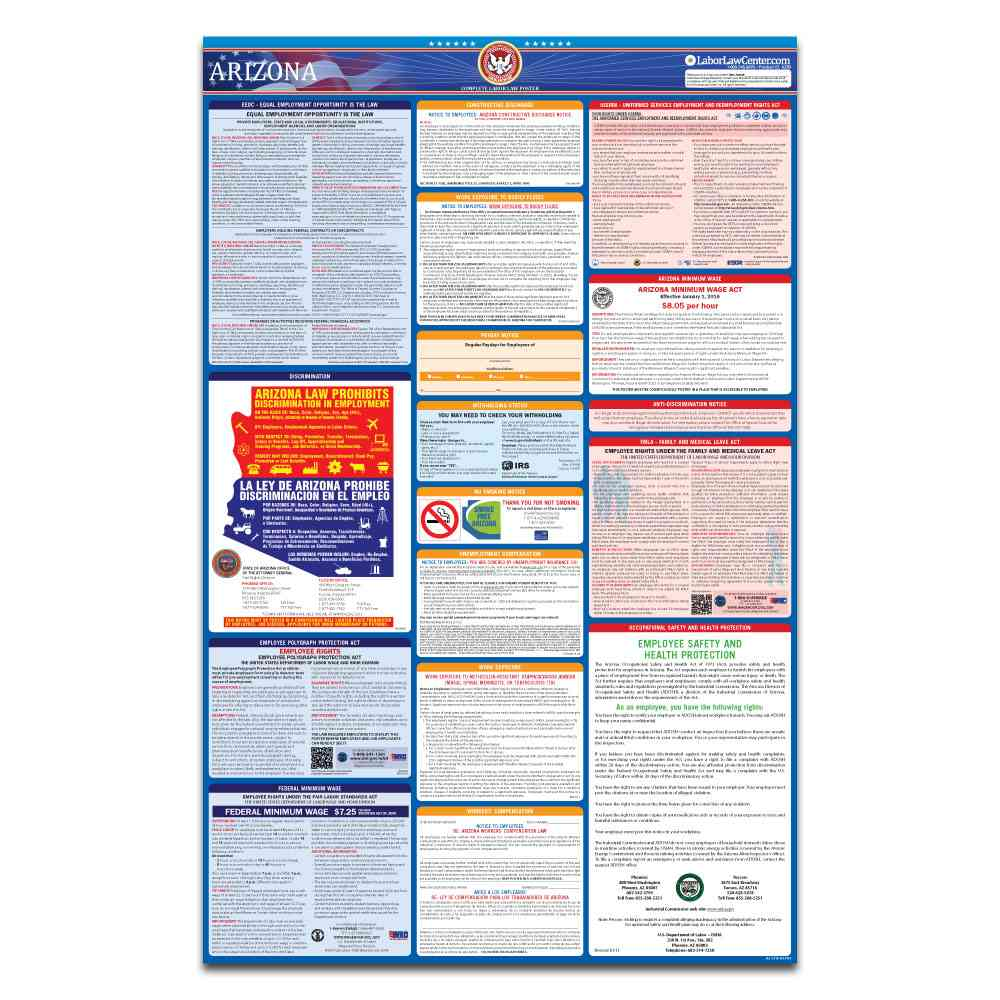 arizona federal labor law poster 2021 replacement service