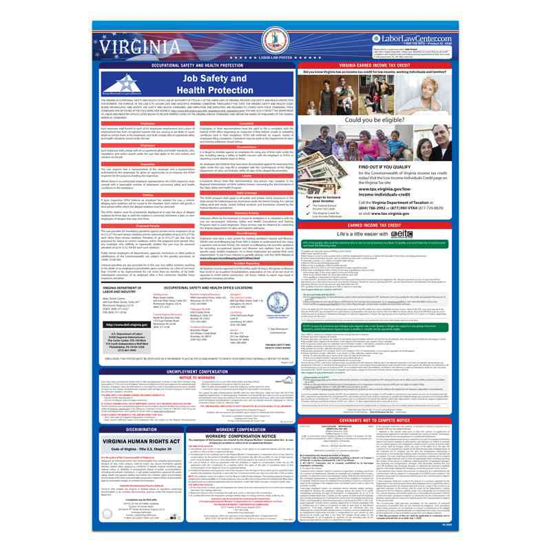 virginia state labor law poster