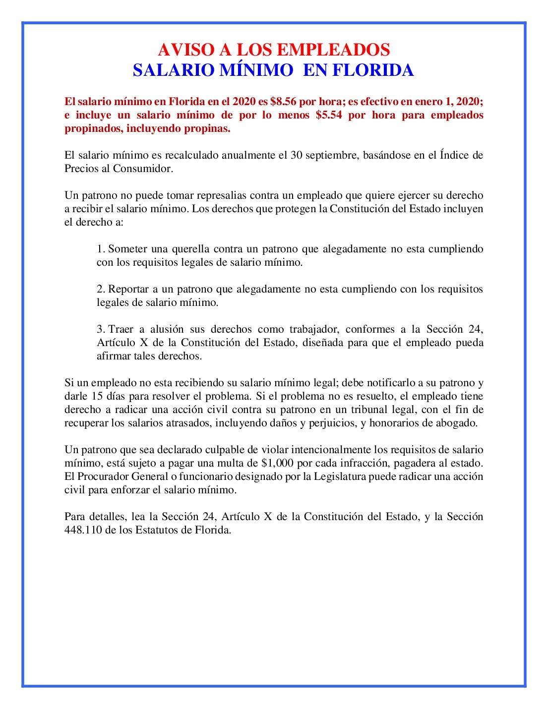 free florida florida minimum wage