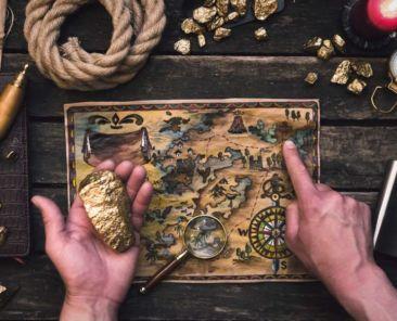 a map to hidden treasure