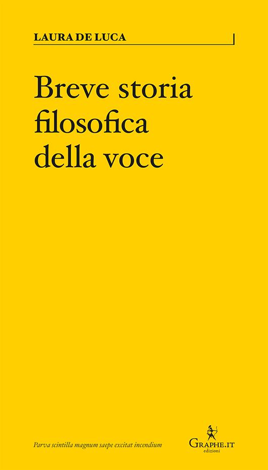Breve storia filosofica della voce Book Cover