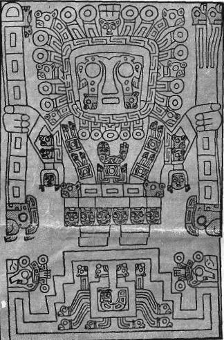 Lo schema del primo mese del calendario rinvenuto a Tiahuanaco : esso registra le varie posizioni della luna ed i moti reali della Terra.