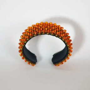LA BOTTEGA LIVENTINA Bracciale rigido con cristalli Swarovski mandarino