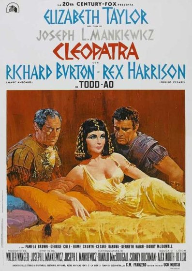 "Locandina del colossal ""Cleopatra"" (1963)"