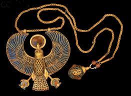 Collana con pendente dal tesoro di Tutankhamon
