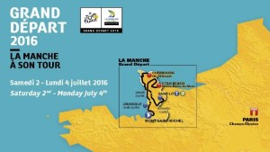 photo of map of manche for tour de france 2016