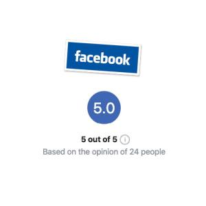 shows facebook feedback average