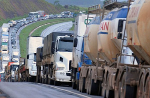Blockade der Autobahn bei Curitiba 24.5.2018