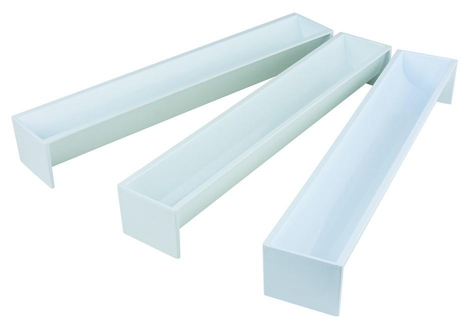 moule ou gouttiere a buche de noel en polystyrene 47x6 5 cm