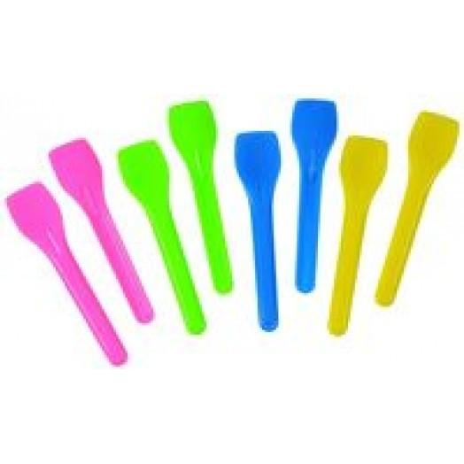 600 petites cuilleres a glace colorees en plastique