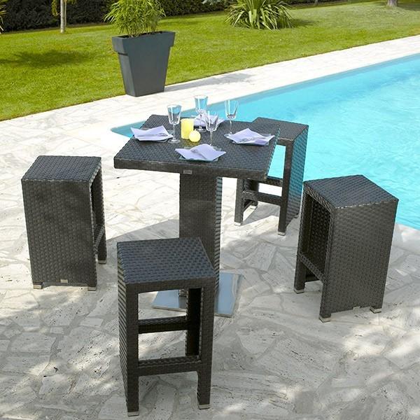 Table Haute Jardin En Bois