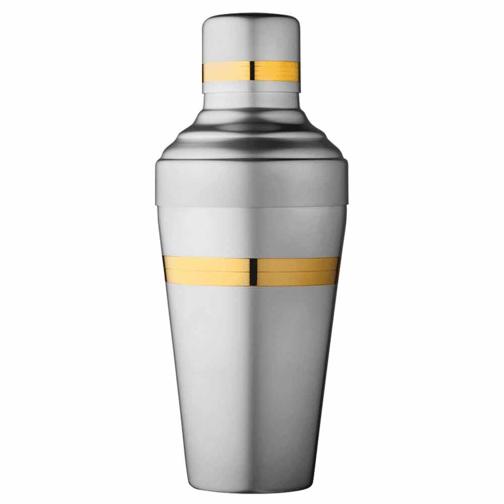 Baron Yukiwa Gold and Matt steel Shaker 50cl