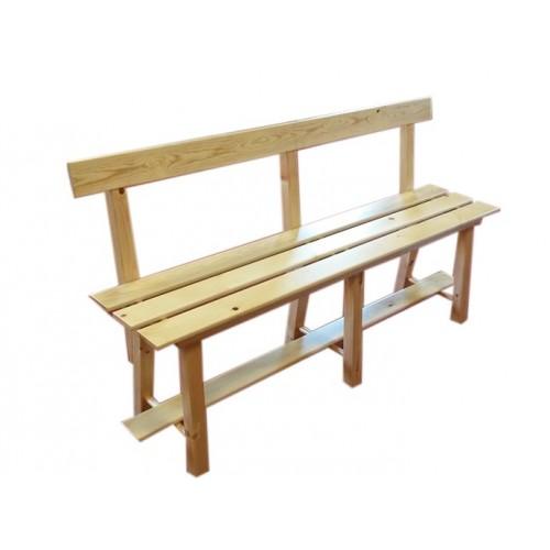 banc de cuisine en bois avec dossier