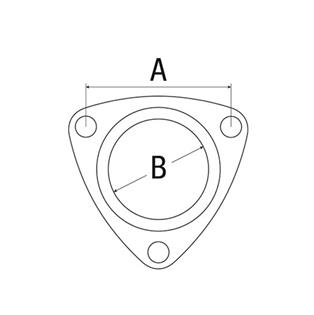 Joint de coude d´échappement Fiat séries 46, 45, 65, 66