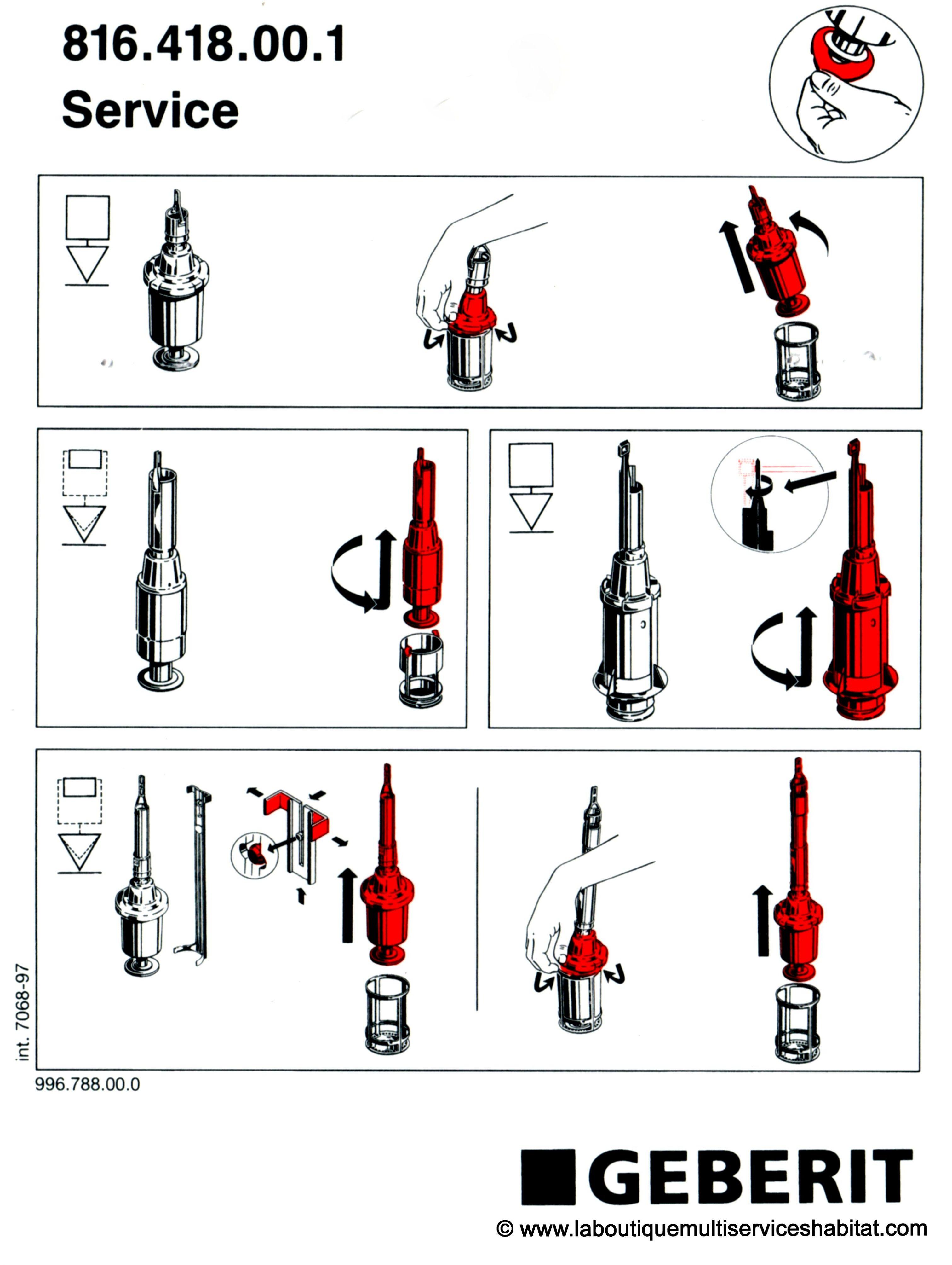 Notice De Service Geberit Remplacement Des Joints De Mecanismes De Chasse Laboutiquemultiserviceshabitat