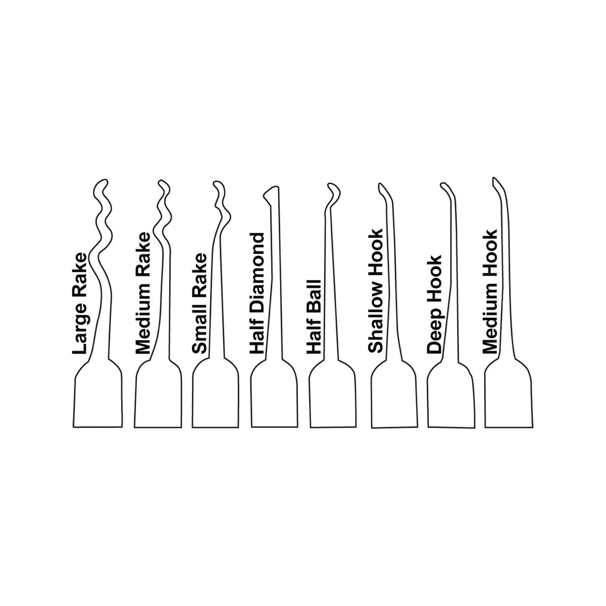 17 Piece Tri Fold Pick Set