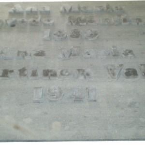 Lápida en piedra