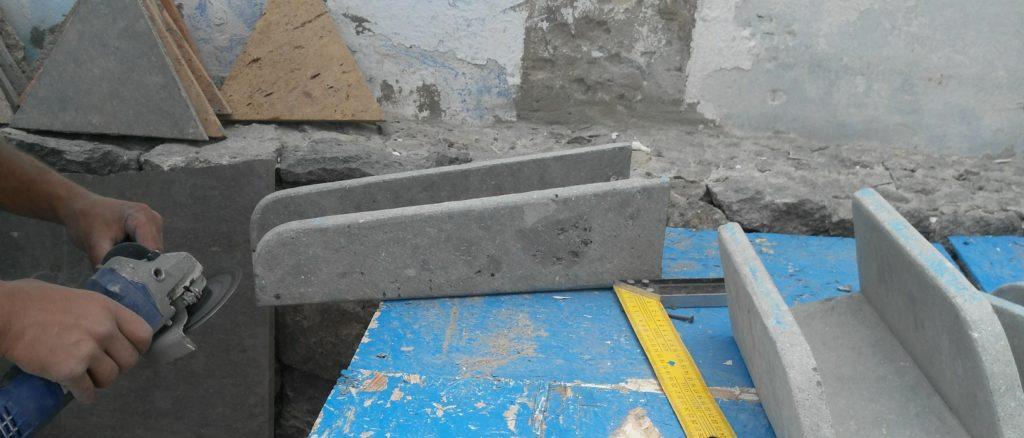 caños en piedra realizados por los alumnos