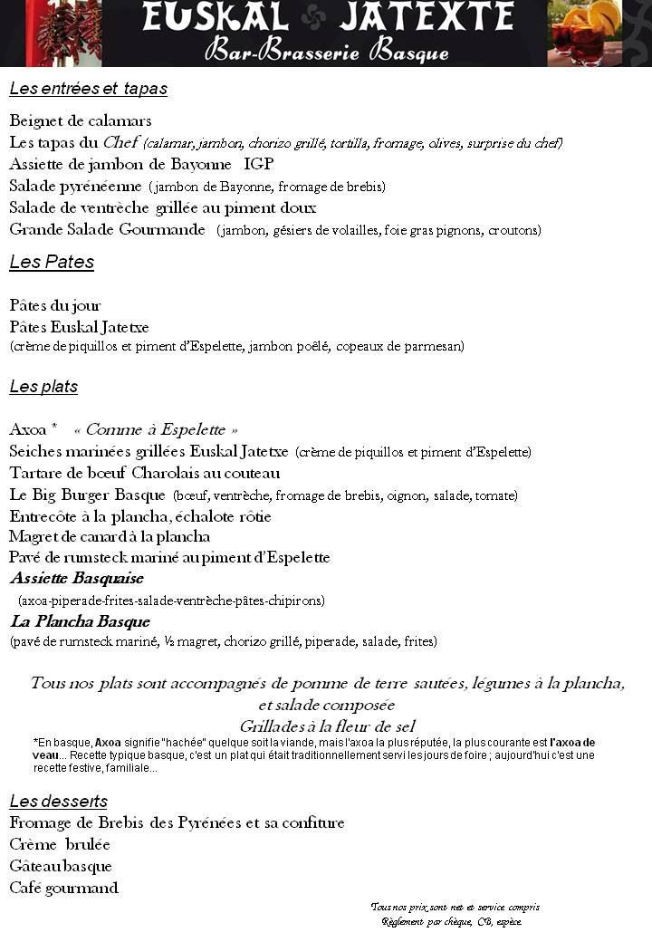 La Brasserie Basque  La Brasserie Basque