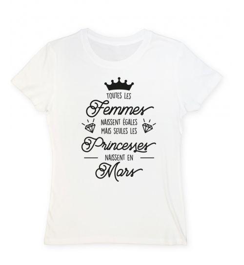 T-shirt Les princesses naissent en mars