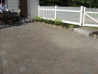 Brick Patio and Granite Step in Salem NH | LaBrie Property ...