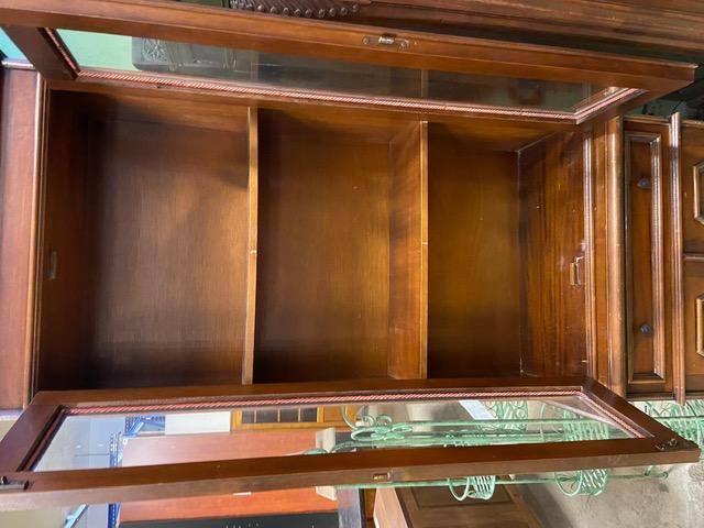 petite bibliotheque vitree en merisier