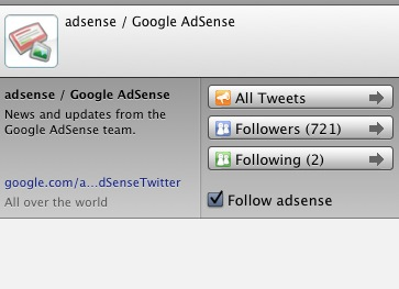 adsense twitter