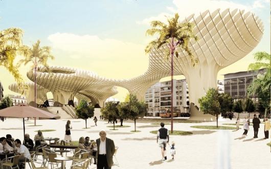 Metrosol Parasol imagen futurista Sevilla