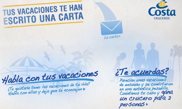 Tus vacaciones te han escrito una carta