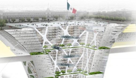 México en vez rascacielos rascatierras
