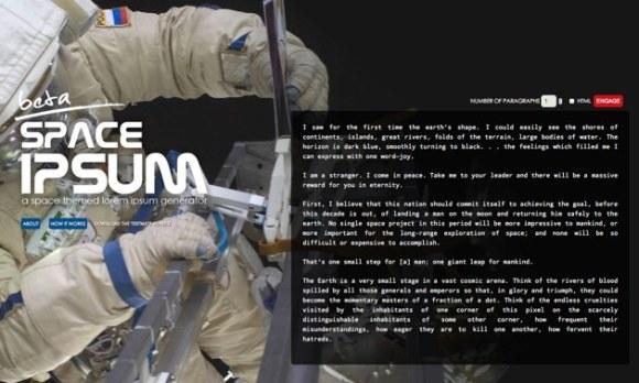 Space Ipsum 1