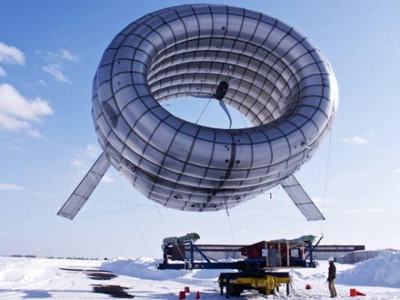 Airbone energía eólica turbina hinchable