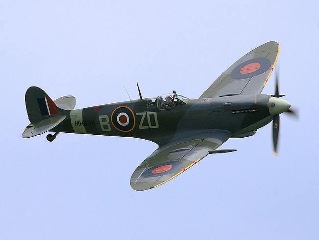 Spitfire salieron debajo tierra