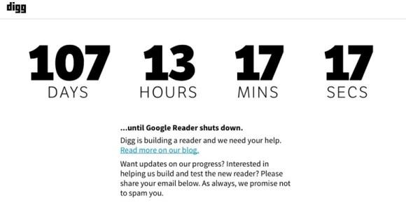 Digg feed reader