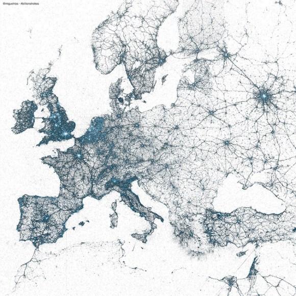 TwitterMapaEuropa