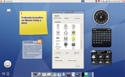 Widgets en Ubuntu con Beryl